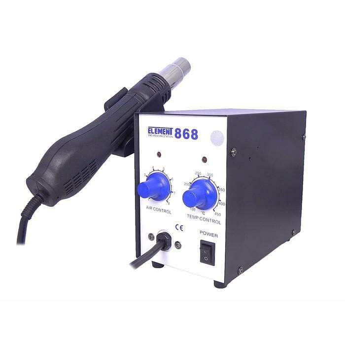 Паяльный фен ELEMENT 868, аналоговый регулятор, 650 Вт, 100-480 °С, ±5°C, 220 В, 100 л/мин