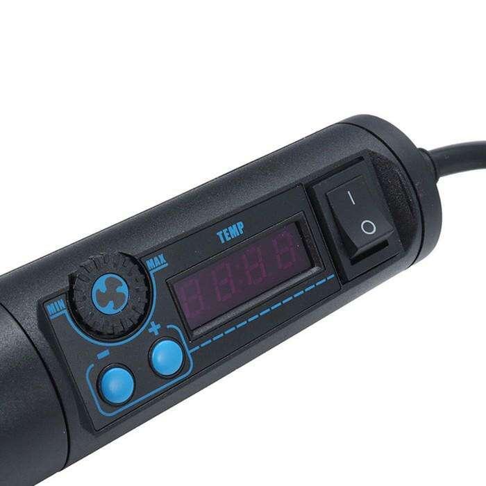 Портативный паяльный фен ELEMENT 8858-I, аналоговый, 650 Вт, 100-480 °С, 120 л/мин, 1.4 м