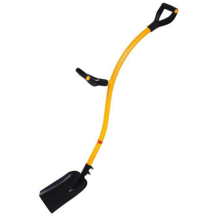Лопата совковая, эргономичный металлический черенок, 2 ручки, «Торнадо»