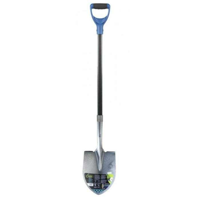 Лопата штыковая, острая, черенок из фибергласса с ПВХ