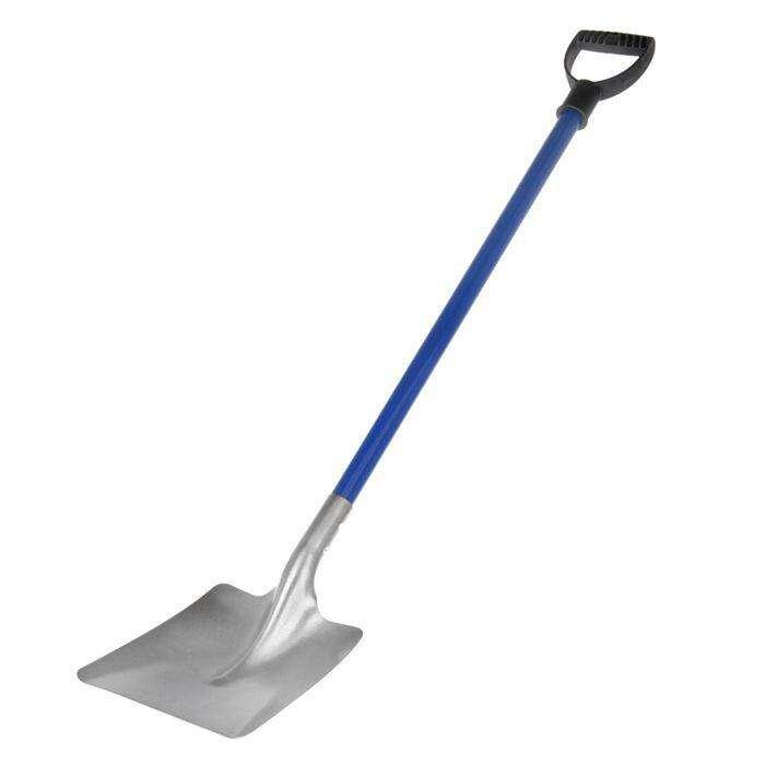 Лопата совковая, титан Ti ВСМПО, алюминиевый черенок, с ручкой