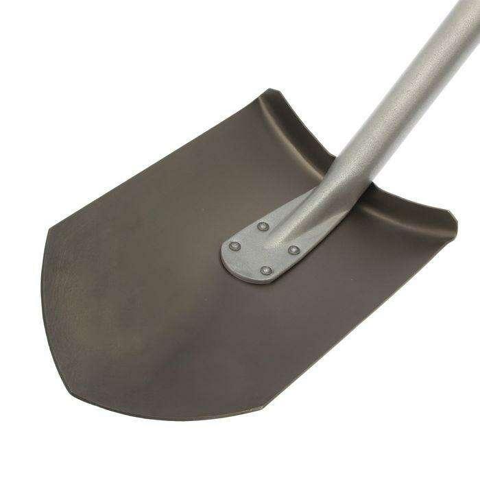 Лопата универсальная, титановая, алюминиевый черенок, с ручкой, «Лидер»