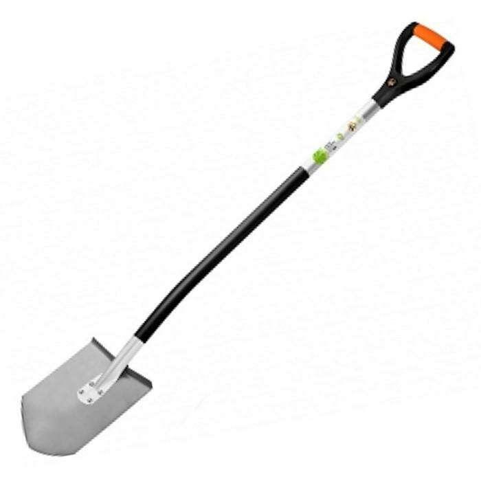 Лопата универсальная, титановая, алюминиевый черенок, с ручкой