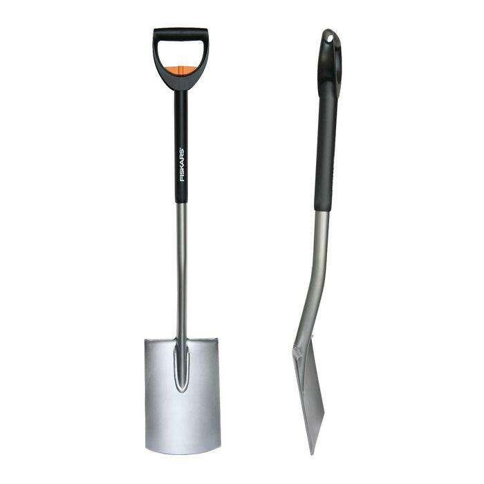 Лопата штыковая, прямоугольная, телескопический черенок, с ручкой