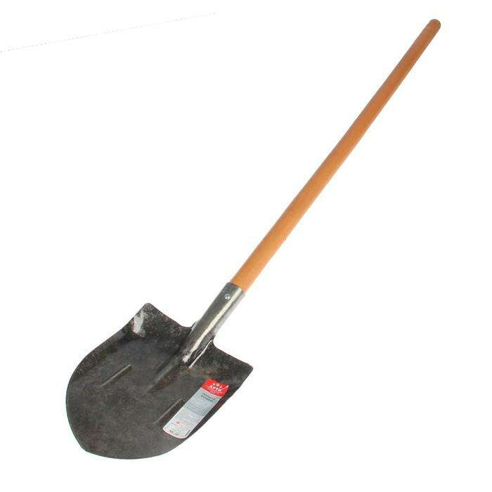Лопата универсальная, с рёбрами жёсткости, деревянный черенок, «Премиум»
