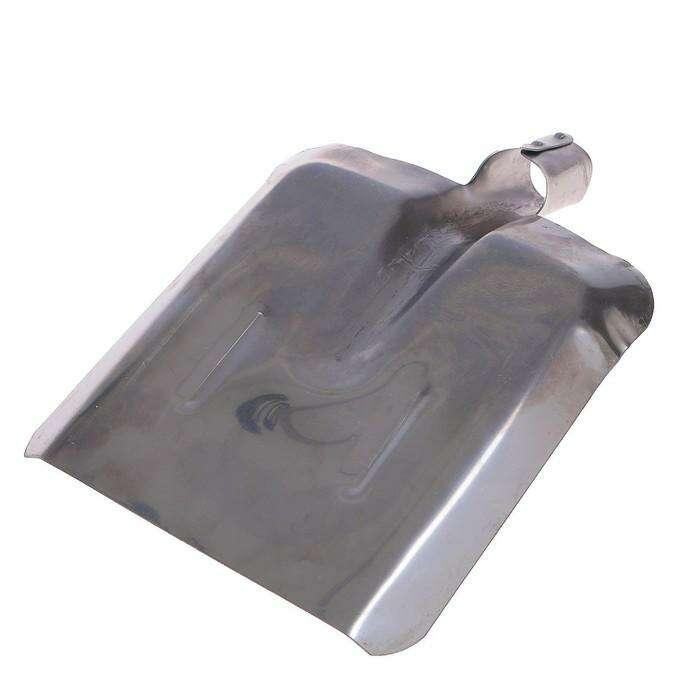 Лопата совковая, с рёбрами жёсткости, толщина 1,2 мм, нержавеющая сталь, тулейка 40 мм, без черенка