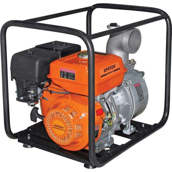 """Мотопомпа """"Кратон"""" GWP-100-02H, бензиновая, 5 л.с., для чистой воды, d=100 мм"""