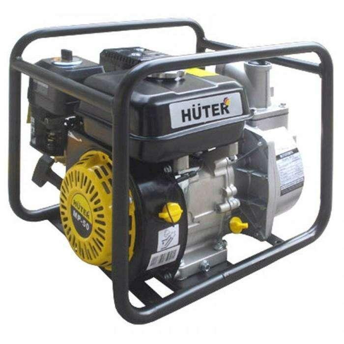 Мотопомпа Huter MP-50, 5.5 л.с., 163 см3, 600 л/мин, глубина 8 м, напор 32 м