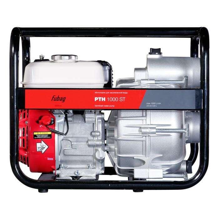 Мотопомпа Fubag PTH 1000 ST, бенз., d=80 мм, для загрязненной воды, 1000 л/мин, 8/28 м