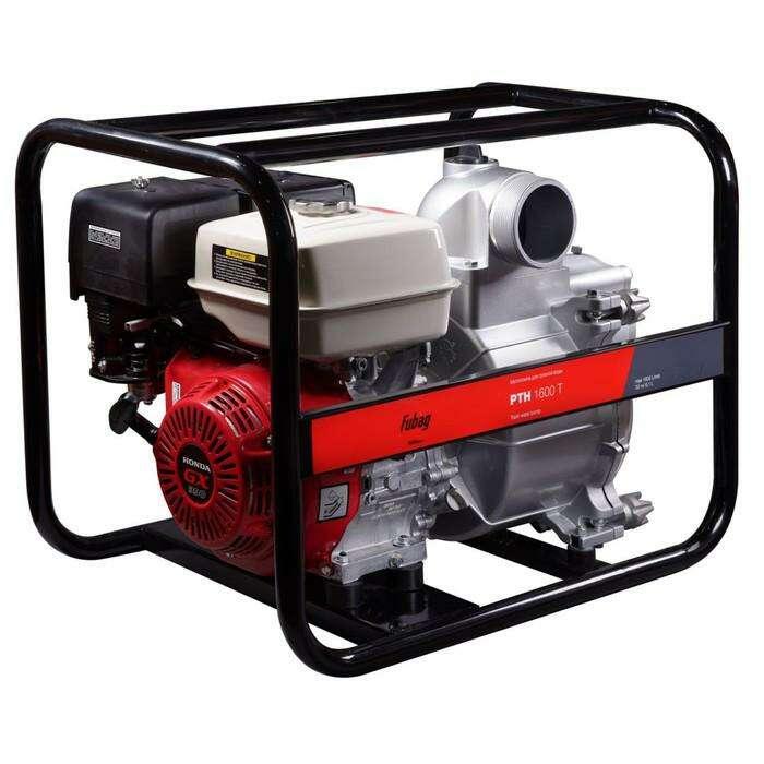 Мотопомпа Fubag PTH 1600Т, для сильнозагрязненной воды, 1600 л/мин, 30м/7м, d=100 мм