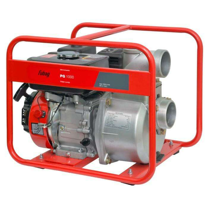 Мотопомпа Fubag PG 1000, бенз., d=80 мм, для чистой воды, 1000 л/мин, 8/28 м, 5.4 л.с.