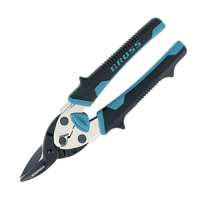 Ножницы по металлу GROSS PIRANHA, 190 мм, прямой рез, СrM