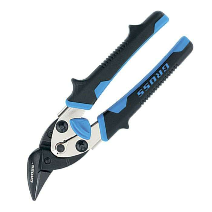 Ножницы по металлу GROSS PIRANHA, 185 мм, прямой и правый рез, СrM