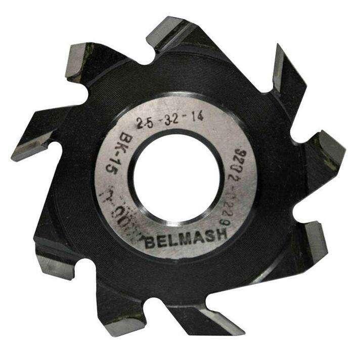 Фреза пазовая с подрезающими зубьями, BELMASH 125×32×14 мм