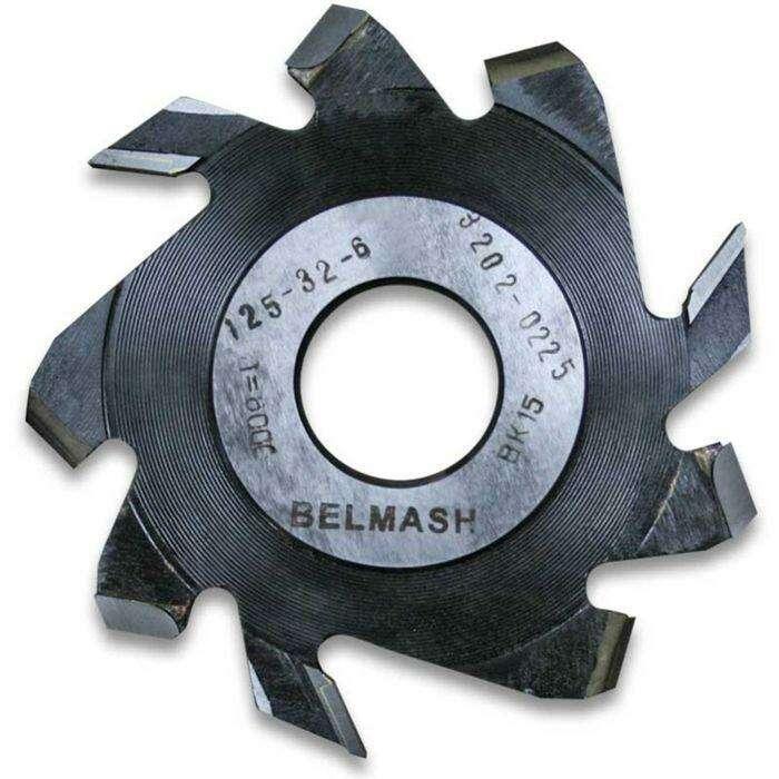 Фреза пазовая с подрезающими зубьями, BELMASH 125×32×6 мм