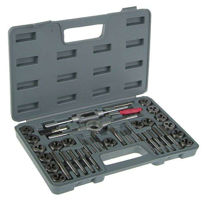 Набор плашек и метчиков TUNDRA basic, 40 предметов, М3-М12