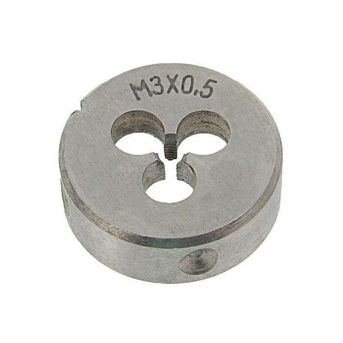 Плашка метрическая TUNDRA basic, М3х0,5 мм