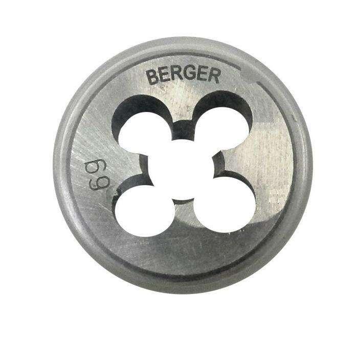 Плашка метрическая BERGER, М10х1,25 мм