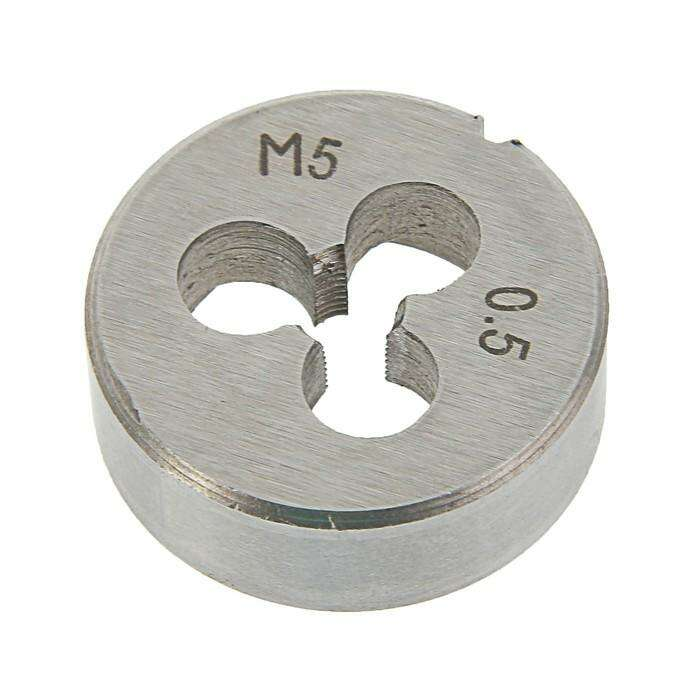 Плашка метрическая TUNDRA basic, М5х0,5 мм