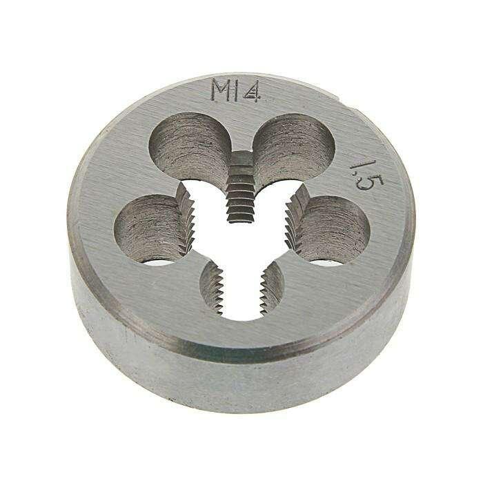 Плашка метрическая TUNDRA basic, М14х1,5 мм