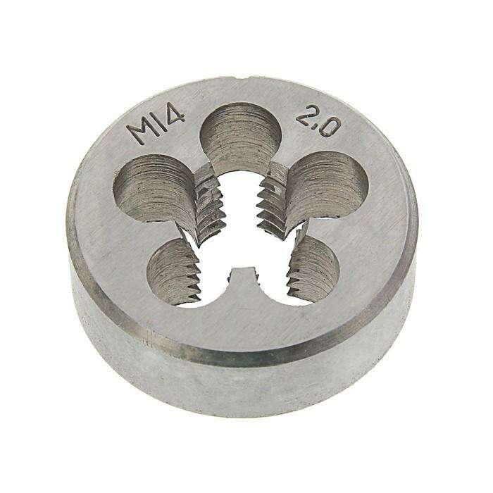 Плашка метрическая TUNDRA basic, М14х2 мм