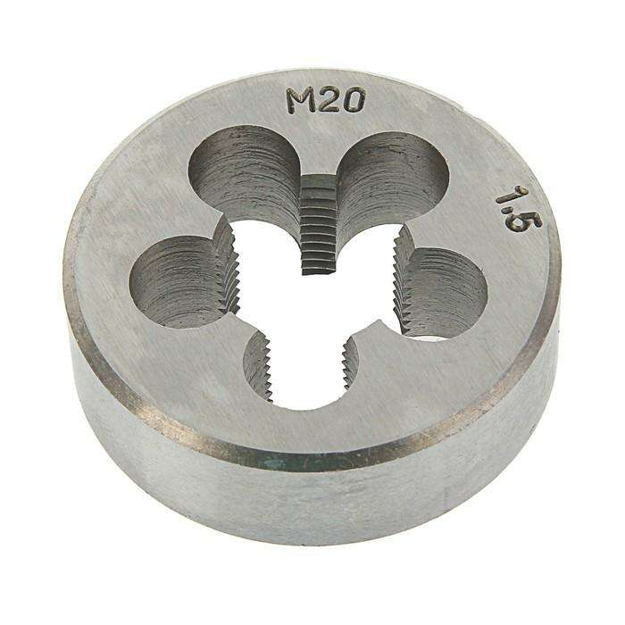 Плашка метрическая TUNDRA basic, М20х1,5 мм