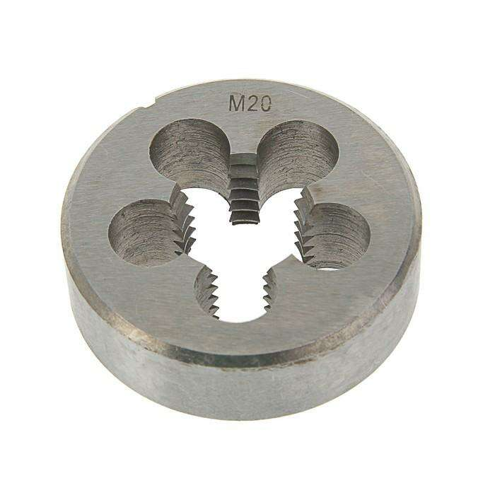 Плашка метрическая TUNDRA basic, М20х2,5 мм