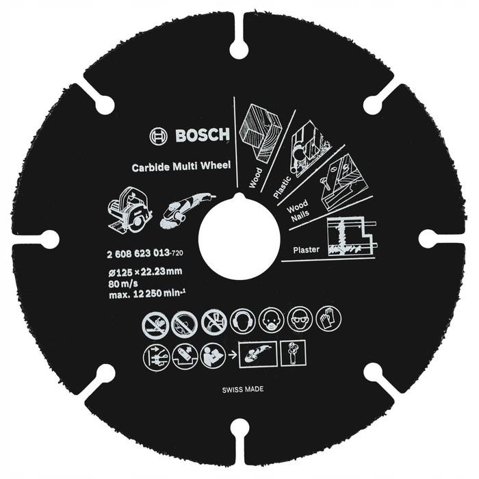 Отрезной круг Bosch 2608623013, универсальный, для УШМ, d=125х22.2 мм, толщина 1 мм