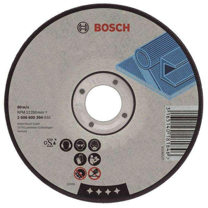Круг отрезной по металлу BOSCH 2608603163, Standard, прямой, 115х1.6 мм