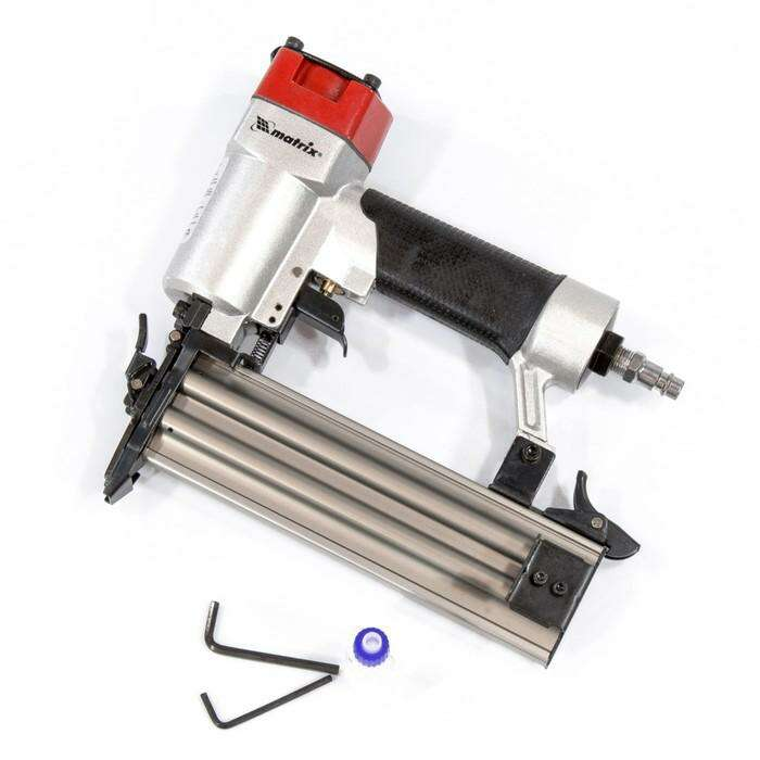"""Нейлер MATRIX 57410, пневматический, для гвоздей от 10 до 50 мм, 7.7 бар, штуцер 1/4"""""""