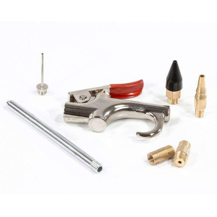 Пистолет MATRIX, продувочный, пневматический, 6 насадок