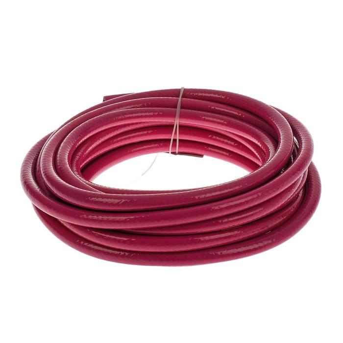 Шланг, ПВХ, d = 9 мм, стенка 4 мм, L = 10 м, пневматический, 3-слойный, армированный, красный