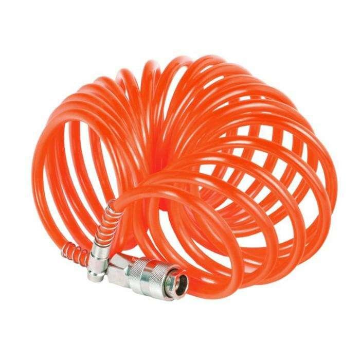 """Шланг пневматический спиральный """"Кратон"""", PE, 10 м, 0.3 кг"""
