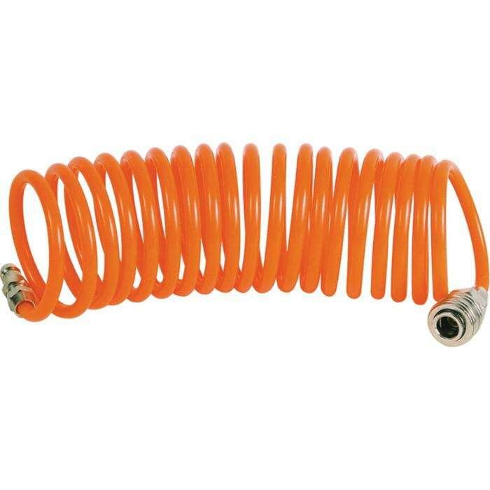 """Шланг пневматический спиральный """"Кратон"""", PU, 7.5 м, 0.35 кг"""
