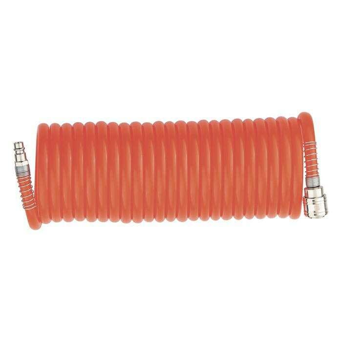 Шланг MATRIX, спиральный, воздушный, 15 м, с быстросъёмными соединениями
