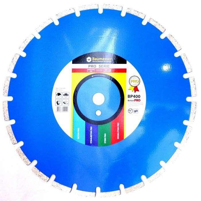 Диск алмазный сегментный BAUMESSER Beton Pro, F4, 400 х 3,8 х 25,4 мм