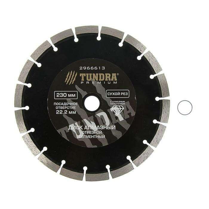 Диск алмазный отрезной TUNDRA premium, сегментный, сухой рез, 230 x 22 мм