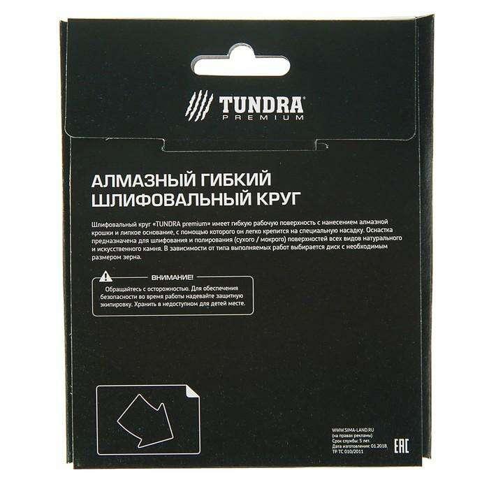 Алмазный гибкий шлифовальный круг TUNDRA premium, для сухой шлифовки, 100 мм, BUFF черный