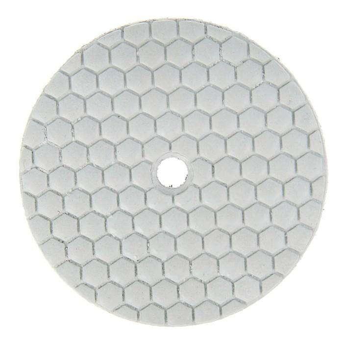 Алмазный гибкий шлифовальный круг TUNDRA premium, для сухой шлифовки, 100 мм, BUFF белый