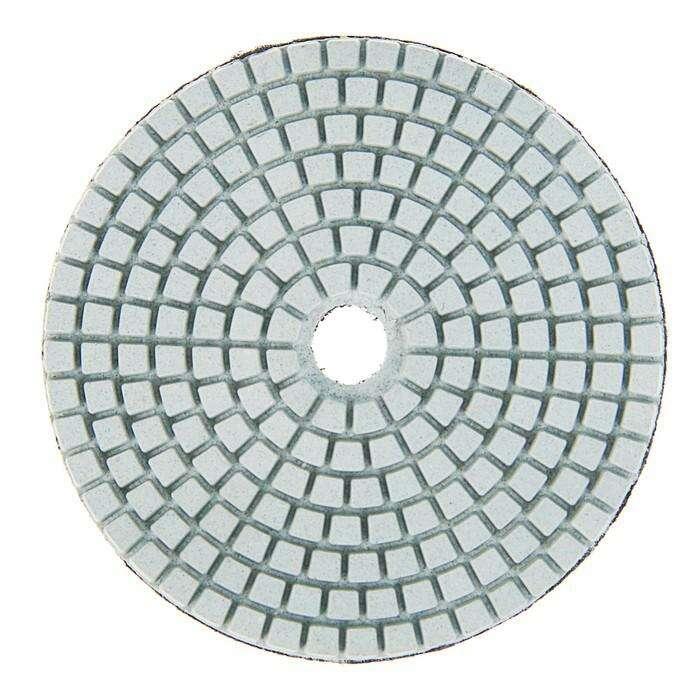 Алмазный гибкий шлифовальный круг TUNDRA premium, для мокрой шлифовки, 100 мм, № 100