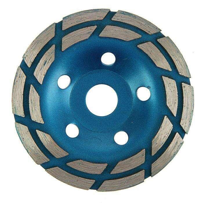 Чашка алмазная зачистная TUNDRA basic, двухрядная, 125 мм