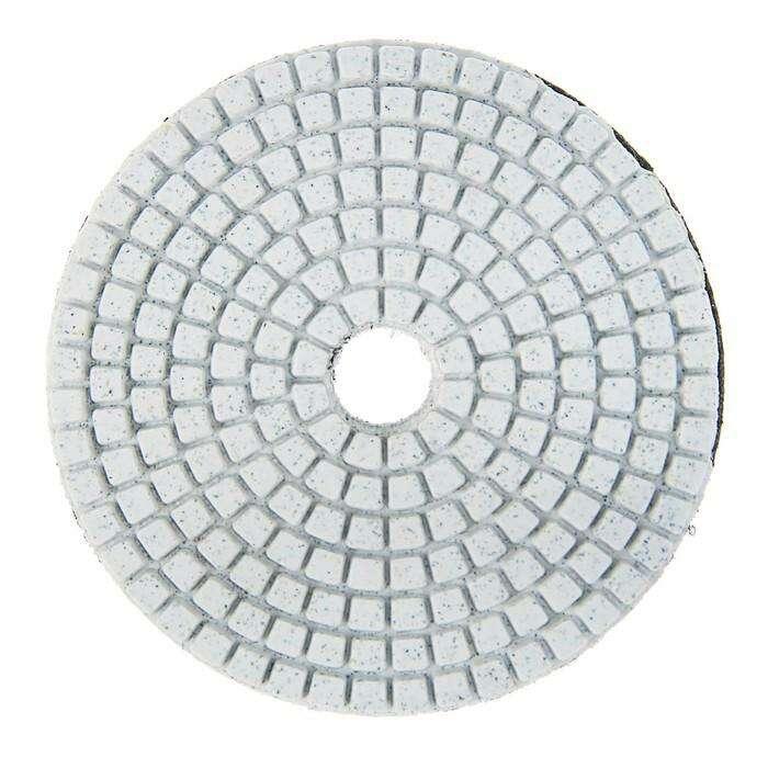 Алмазный гибкий шлифовальный круг TUNDRA premium, для мокрой шлифовки, 100 мм, № 50