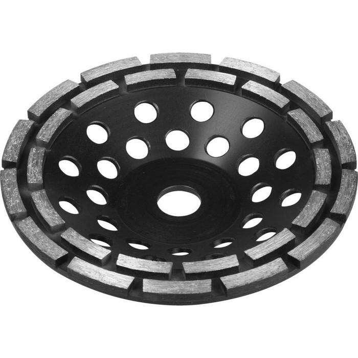Чашка ЗУБР 33372-180, алмазная сегментная двухрядная, высота 22.2мм, 180 мм