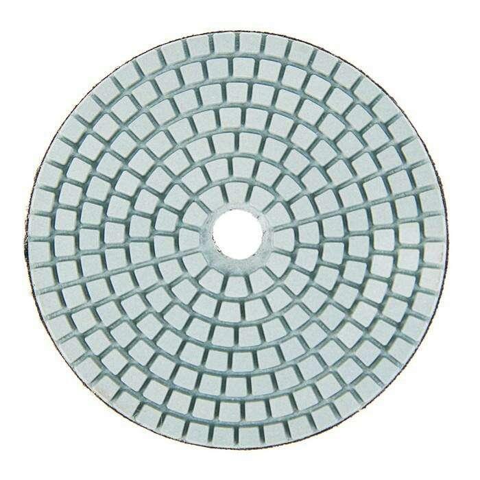 Алмазный гибкий шлифовальный круг TUNDRA premium, для мокрой шлифовки, 100 мм, № 400