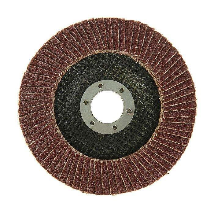 Круг лепестковый торцевой конический LOM, 125 × 22 мм, Р80