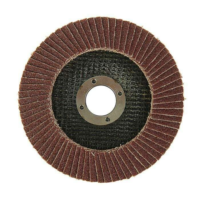 Круг лепестковый торцевой конический LOM, 125 × 22 мм, Р100