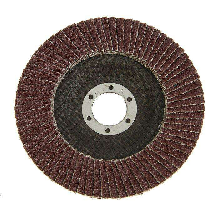 Круг лепестковый торцевой TUNDRA basic, 125 х 22 мм, Р60
