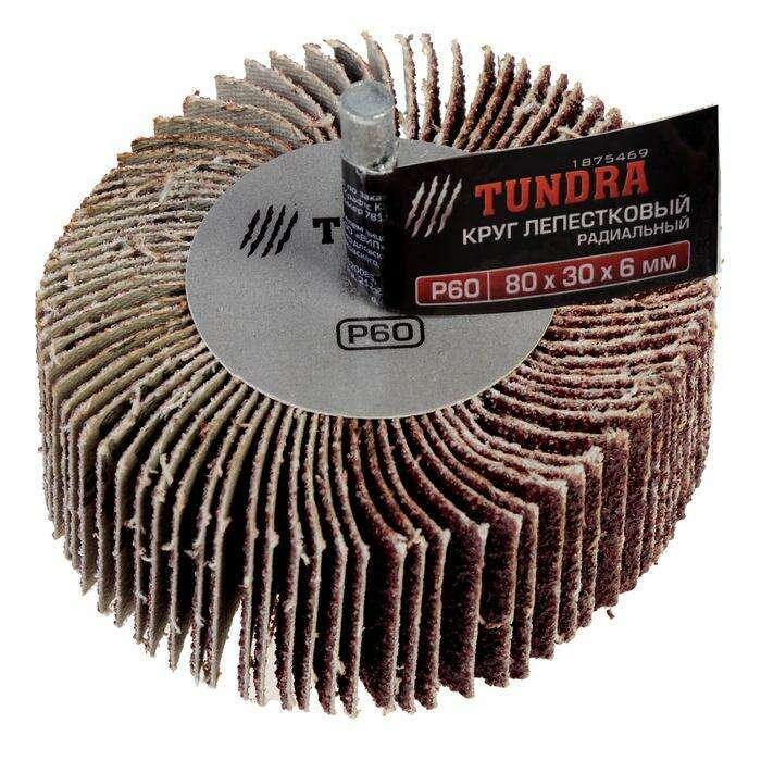Круг лепестковый радиальный TUNDRA basic, 80 х 30 х 6 мм, P60