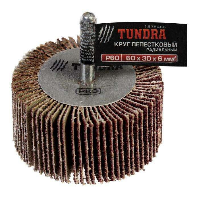 Круг лепестковый радиальный TUNDRA basic, 60 х 30 х 6 мм, P60