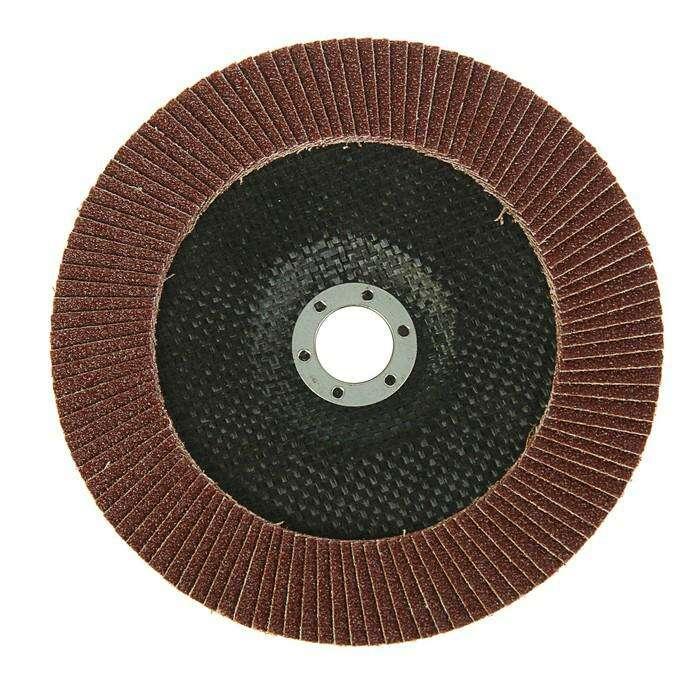 Круг лепестковый торцевой LOM, 180 × 22 мм, Р60